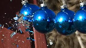glass ornaments shatter motion