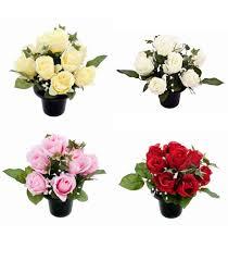 graveside flowers memorial gravestone flower pots with roses graveside flowers