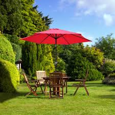 5 Ft Patio Umbrella Decor Tips Dazzling Outdoor Dining Room With Brown Wood Folding