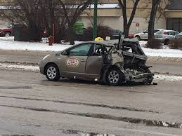 smart car crash four people sent to hospital after serious car crash in st vital