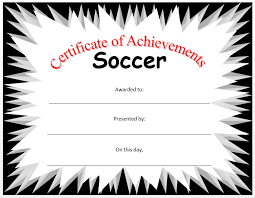 soccer certificate template microsoft word templates