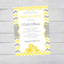 rubber ducky baby shower invitation rubber duck yellow and