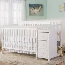 White Crib And Changing Table Crib Changing Table Combo