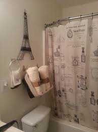 paris themed bathroom shower curtains and eiffel tower decor