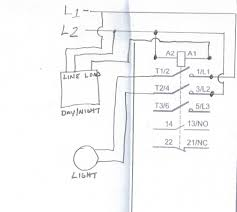 wiring of a contactor lc1d091o to daynight switch and how wire day