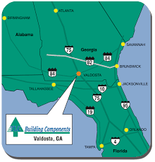 Valdosta Map Welcome To Tlc Building Components