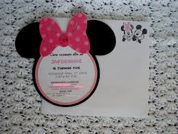 Minnie Invitation Card Easy Minnie Mouse Birthday Invitations Decorating Of Party
