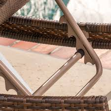 Outdoor Wicker Chaise Lounge Amazon Com Manuela Outdoor Single Multibrown Wicker Chaise Lounge