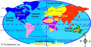 world map oceans seas bays lakes geography land forms