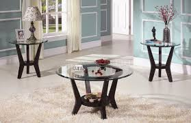 coffee tables simple black round unique wooden legs and glass