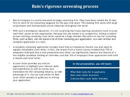 Letter To Submit Resume Bain Cover Letter Sample