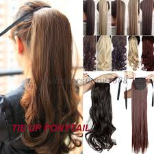 extension hair s noilite curly ribbon ponytail synthetic hair clip in hair
