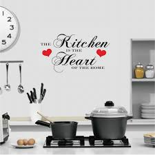 large the kitchen is the heart of the home quote wall art decal