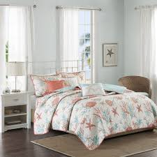 Coral And Teal Bedding Sets Coastal Bedding And Bedding Sets Beachfront Decor