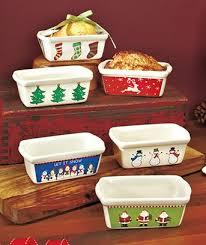 buy stoneware set of 6 mini loaf pan set in