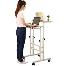 amazon com sdadi 2 inches carpet wheel mobile stand up desk