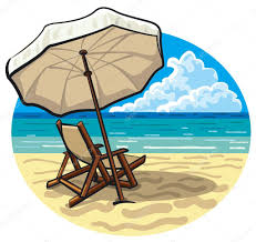 Clip On Umbrellas For Beach Chairs Beach Chair And Umbrella U2014 Stock Vector Olegtoka1967 13069476