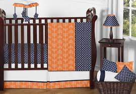 Jojo Crib Bedding Orange And Navy Arrow Baby Bedding 11pc Crib Set By Sweet Jojo