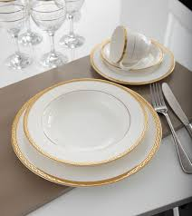 bone china gold dinnerware set inspired style better living
