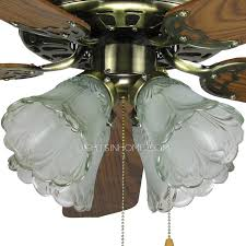 blades 4 lights ceiling fans with lights vintage style for bedroom