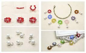 diy beaded charm bracelet images Diy beaded flower charm bracelet fashionornaments jpg