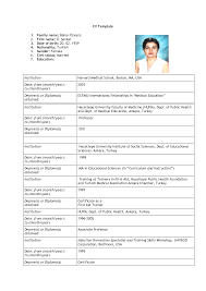 Curriculum Vitae Samples Pdf Download by Format Format For Resume For Job