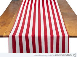 red and white table runner 15 timeless striped table runners home design lover
