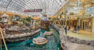 west edmonton mall galleon attraction editorial photography image