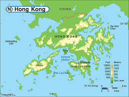 map world hong kong hong kong physical map by maps from maps world s
