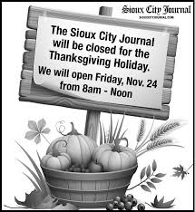thanksgiving office hours ad vault siouxcityjournal