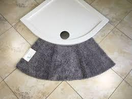quadrant microfibre non slip medium curved shower mat bathroom