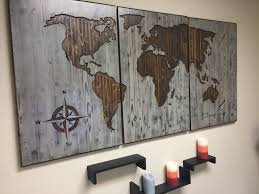 Home Decor World by World Map Wood Wall Art Carved Custom Home Decor Wooden Map