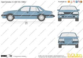 opel senator 1985 the blueprints com vector drawing opel senator a 3 0e cd