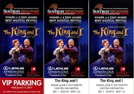 lexus discount rangers tickets tickets 6 11 the king and i dpac 2 vip tickets orchestra sec 1 2nd
