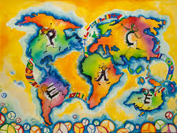 building bridges of peace across the world children map their world