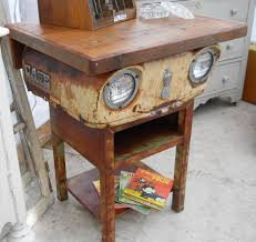 Making A Small End Table by Small Case Tractor Table Make A Cool End Table Or Kitchen Island