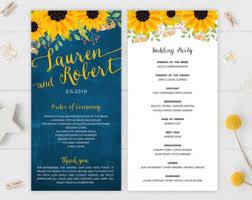 Programs For Wedding Chalkboard Program Etsy