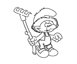 farmer smurf coloring pages hellocoloring coloring pages