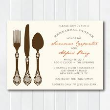 rehearsal dinner invitations vintage inspired silverware rehearsal dinner invitation