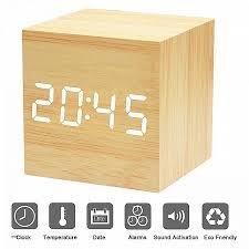 afficher sur le bureau bureau afficher horloge sur bureau lovely led réveil en bois xagoo