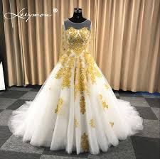 white wedding dress with gold beading leeymon muslim wedding dress in dubai white and gold sleeves