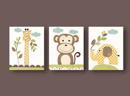 Jungle Nursery Wall Decor Nursery Wall Nursery Baby Nursery Room Decor