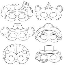 coloring glamorous clown mask template clowns coloring