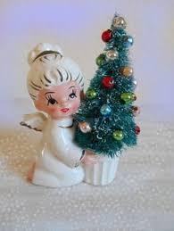 bottle brush tree vintage ornaments pixie