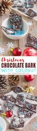 christmas chocolate bark with coconut video happyfoods tube
