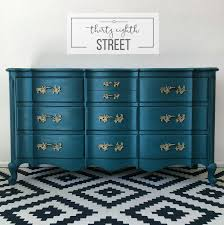 Bedroom Furniture Painted With Chalk Paint Painted Peacock Blue Dresser Makeover French Provincial Dresser