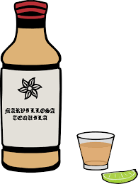 drink svg free clipart of a bottle of tequila