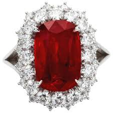 ruby rings sale images 5 95 carat cushion cut pigeon blood no heat ruby ring grs cert for jpg