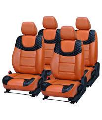 car seat covers for honda jazz 48 on elaxa orange pu leatherite car seat covers for honda