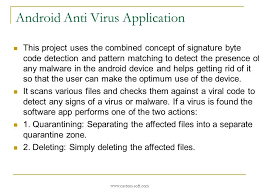 android pattern matching android anti virus application by customsoft ppt download